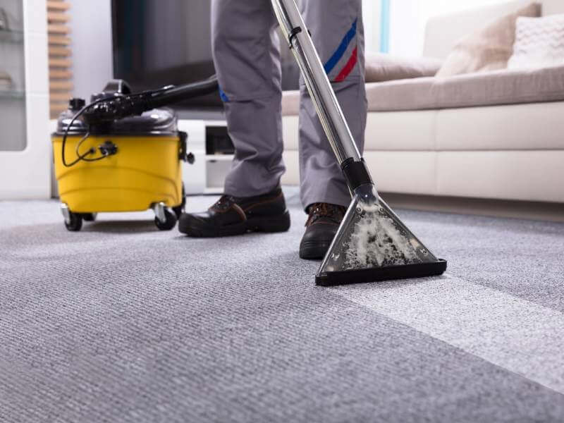 Pro Process of Carpet Cleaning